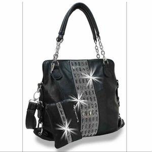 Rhinestone Bling Handbag Set